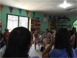 Reunión en las instalaciones del PANI en Moín con Primera Dama de la República en la que conoció la experiencia de lideres comunitarios en el PSM 2015. Participan funcionarios del Ministerio de Salud, CCSS y PANI
